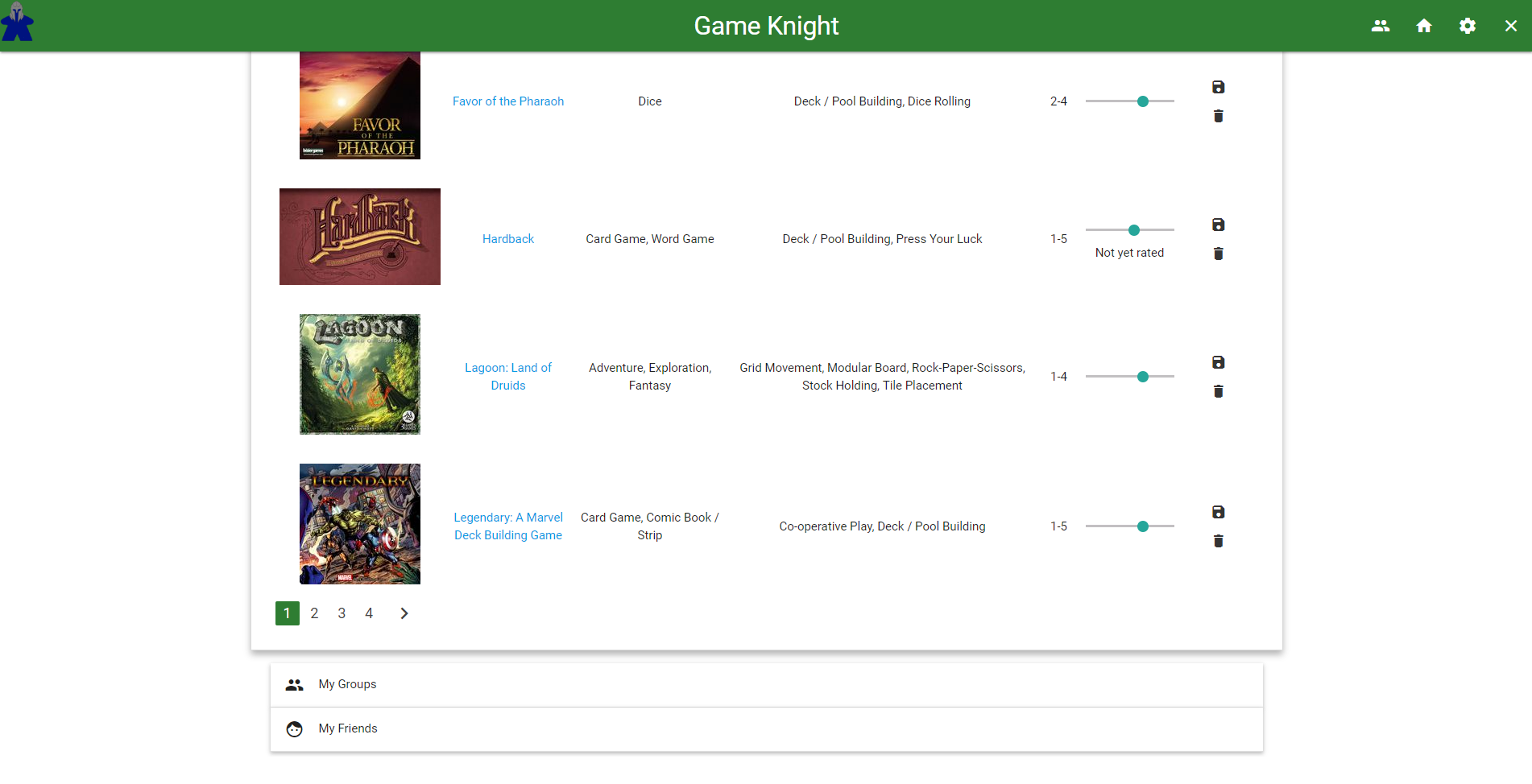 Game Knight (Rails)